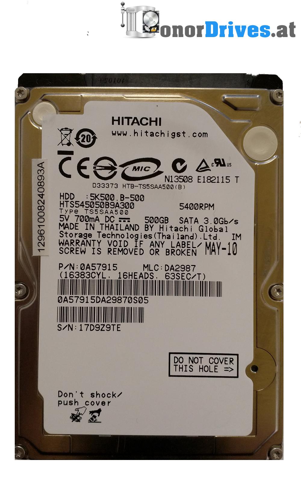 HITACHI HDD 5K500 B-500 DRIVERS FOR WINDOWS 7