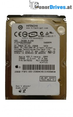 Hitachi HDP725025GLA380- 0A36893 - SATA - 250 GB - Pcb 110 0A90026 01 Rev.