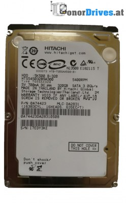 Hitachi HTS545025B9SA02- 5K500 B-250 - SATA - 250 GB - 220 0A90161 01 Rev.