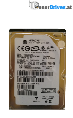 Hitachi HTS725032A9A364- 7K500-320 - SATA - 320 GB - PCB 220 0A90161 01 Rev.